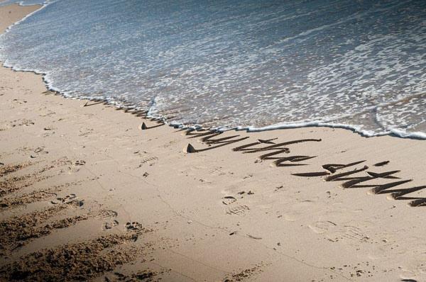 Beach-Calligraphy-Plett